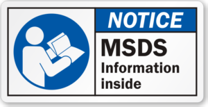 MSDS sheets Information Graphic